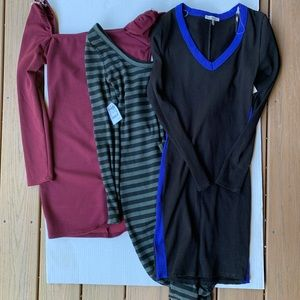Lot of Small Dresses Bodycon Stretchy NWT